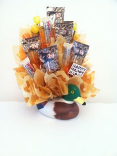 DUCK DYNASTY Candy Bouquet In a Ceramic DUCK with by CandyFlorist, $19.95