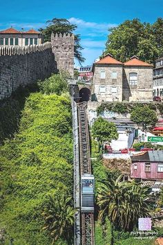 Porto, Guindais funicular - near Douro Douro Portugal, Visit Portugal, Spain And Portugal, Portugal Travel, Algarve, Places To Travel, Places To See, Voyage Europe, Funchal