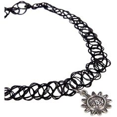 Boohoo Julia Sun Stretchy Tattoo Choker ($8) ❤ liked on Polyvore featuring accessories