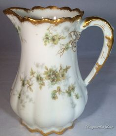 Theodore Haviland Limoges Handled Cream by BougainvilleaLane