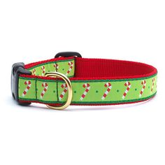 Up Country Candy Cane Holiday Dog Collar | PupLife Dog Supplies