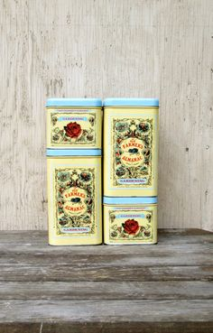 Farmer's Almanac Tins  Vintage Set of 4 Stacking di PlantsNStuff