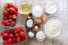 Easy Strawberry Cake recipe loaded with strawberries. So soft, lightly sweet, moist and bursting with strawberry flavor. Must-try easy strawberry syrup! | natashaskitchen.com