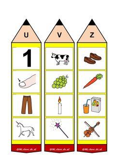 Beginning Sound Activity Cards Teaching The Alphabet, Teaching Kids, Craft Stick Crafts, Preschool Crafts, Kindergarten Activities, Activities For Kids, Learning English For Kids, Initial Sounds, Grande Section