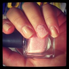 Baby Pink Caviar Nails!