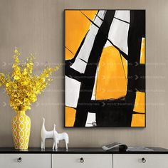 Framed Wall Art Abstract Bright Yellow Black Print Painting on Canvas Large Wall Art Quadro Cuadros Abstractos Frame Wall Art Printable - Art ideas Large Wall Art, Framed Wall Art, Canvas Wall Art, Framed Canvas, Diy Canvas, Art Mur, Custom Canvas Prints, Oil Painting On Canvas, Acrylic Paintings