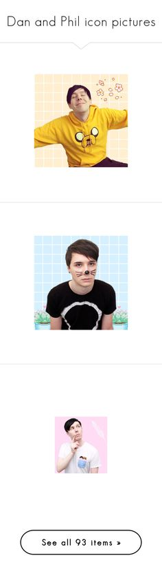 """Dan and Phil icon pictures"" by ooakforest ❤ liked on Polyvore featuring people, phil lester, pictures, youtube, youtubers, photos, images, dan and phil, danisnotonfire and dan"