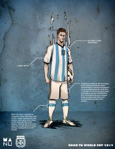 Messi - from a set of illustrations by Manu Faves for the #WorldCup