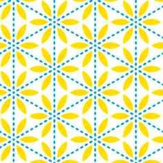 Retro Yellow Flower fabric by stoflab on Spoonflower - custom fabric