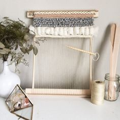 Spring Weaving Travel Loom Kits // Weaving // Woven Wall Hanging