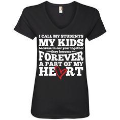 I call my students my kids   V-Neck Tee