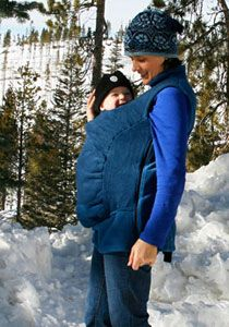 "Peekaru: ""a fleece vest that zips over any soft baby carrier to keep you and your child warm when it's cold out..."""