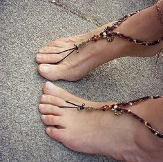 African queen macrame barefoot sandals by MammaEarthCreations, $48.00