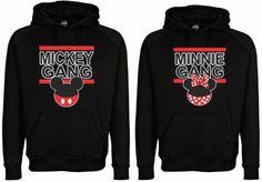 Lot of 2 Hoodie Hooded Sweatshirt Mickey Gang & Minnie Gang Black Custom Made #surfavc #sweatshirt