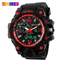 SKMEI 2016 new popular Brand man Sports Watches digital LED display  chronograph multiple time zone 30M waterproof rubber starp 637e093cfa71