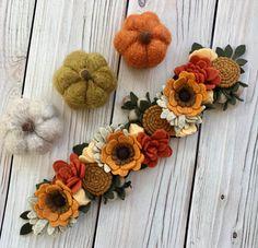 Pumpkin Spice Fall Flower Crown