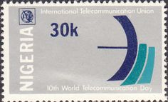 Nigeria 1978 World Telecommunication Day Fine Mint As SG 380 Scott 359 Other Commonwealth stamps here
