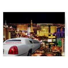 WEDDING IN LAS VEGAS LIMO Card Las Vegas Limo Weddings Birthdays