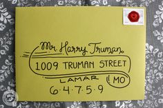 Wedding Calligraphy Envelope Addressing Truman by 5thFloorDesigns, $2.25