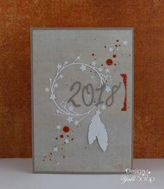 Bonjour, Voici la dernière carte de vœux , façon attrape-rêves, que j'ai créée dans le cadre de l'échange du nouvel an organi...