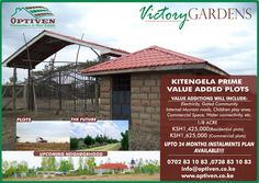 Victory Gardens is your ideal property for investment. Optiven is pleased to settle you in a gated community with special value added plots. http://optiven.co.ke/properties/victory-gardens-kitengela