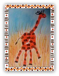 Une girafe dans la main