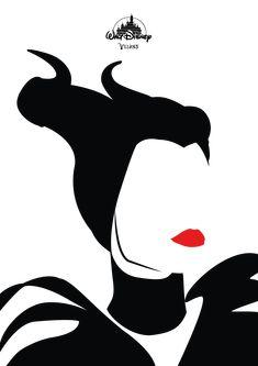 Minimalistische poster ontwerpen van je favoriete Disney Villans!