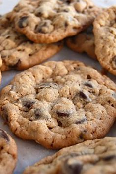 Chocolate Chip Oatmeal Cookies Recipe I substituted one 1/2 c flour with oat flour