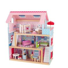 Kidkraft Chelsea Doll Cottage with Furniture - Cool Modern Furniture Check more at http://cacophonouscreations.com/kidkraft-chelsea-doll-cottage-with-furniture/