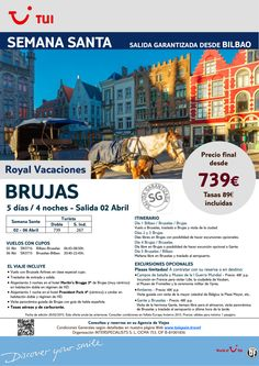 Semana Santa - Brujas. 4 noches. Desde Bilbao 2Abril. Precio final desde 739€ ultimo minuto - http://zocotours.com/semana-santa-brujas-4-noches-desde-bilbao-2abril-precio-final-desde-739e-ultimo-minuto-2/