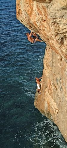 Soo excited I finally got se climbing  in.  Man  I am out if shape.  Nice moves Neil!  Cliff climbing in Mallorca, Spain • photo: pasdecontraintes on Flickr