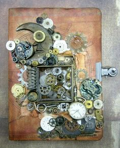 Create a fabulous altered steampunk notebook with a mini shadow box effect and a metal bezel. Use it as an art journal or a notebook for your creative ideas,...