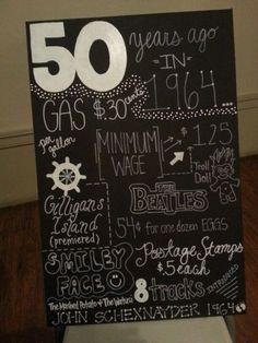 Interesting 50th birthday decoration. See more decorations and 50th birthday party ideas at www.one-stop-party-ideas.com