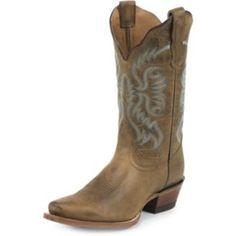 Nocona Ladies Fashion Print 11in Tan Boots