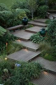 Here are outdoor lighting ideas for your yard to help you create the perfect nighttime entertaining space. outdoor lighting ideas, backyard lighting ideas, frontyard lighting ideas, diy lighting ideas, best for your garden and home Garden Steps, Garden Paths, Garden Tools, Garden On A Hill, Garden Villa, Moss Garden, Side Garden, Garden Fencing, Backyard Landscaping
