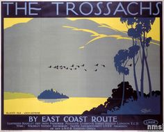 Trossach's - L.N.E.R. Poster, Tom Purvis Posters Uk, Train Posters, Railway Posters, Poster Prints, Modern Posters, Art Prints, British Travel, Tourism Poster, Art Deco
