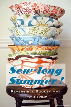 sewlongsummer sewn reversible bucket hat