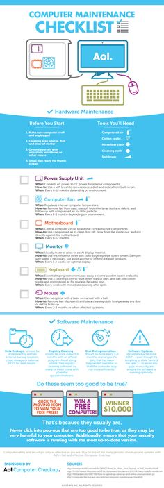 The Essential Computer Maintenance Checklist #infographic