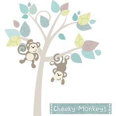 Monkey Tree Fabric Wall Stickers