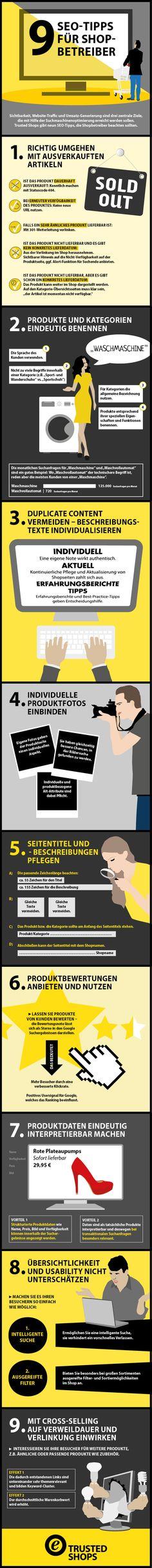 Infografik: SEO-Tipps für Shopbetreiber