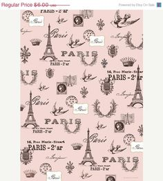 wHoLeSaLe 48 hrs Cavallini Paris Pink Wrapping by alluringsupplies.    Alluring Supplies carries the FINEST quality scrapbooking supplies!