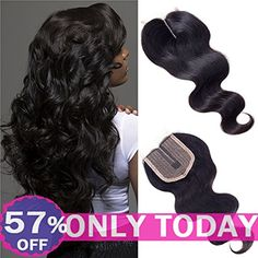 """Forevery Hair Lace Closure 3.5x4 Body Wave Brazilian Virgin Human Hair Extensions Middle Part Lace Closure(10"""", body wave) >>> Click image to review more details. (This is an affiliate link) #PersonalCare"""