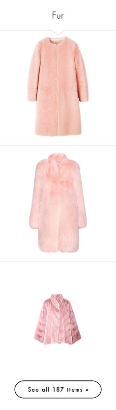"""""""Fur"""" by adelaida0912 ❤ liked on Polyvore featuring outerwear, coats, fur, jackets, bottega veneta, red coat, fur coat, red fur coat, pink and fox fur coat"""