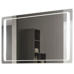 Vanita and Casa Lighted Vanity Mirror 7095-702S - Replace mirror and overhead lighting in Master bath.  $840 at Ylighting