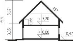 Projekt domu Economic wersja A - Modern Bungalow Exterior, Modern Bungalow House, Small Modern House Plans, Mocca, Home Design Plans, E 10, Planer, Floor Plans, House Design
