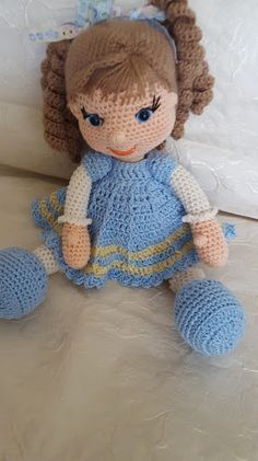 free crochet doll patterns easy crochet doll patterns free the best crochet dolls and crochet doll tutorials Crochet Dolls Free Patterns, Crochet Doll Pattern, Amigurumi Patterns, Amigurumi Doll, Doll Patterns, Loom Knitting Stitches, Amigurumi For Beginners, Kawaii Crochet, Baby Girl Crochet