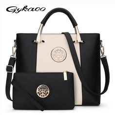 30a815a70 2017 Novo 2 Bags/Set Estilo Europeu E Americano Mulheres Bolsa Marca  Designer Mulheres Mensageiro