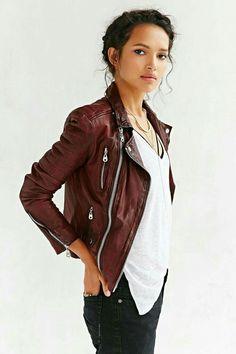 Brown leader jacket