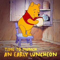 Time to munch an early luncheon