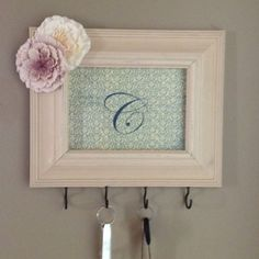 diy key holder | DIY key holder. So cute, I love making these! | DIY - home